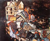 Egon Schiele: Konec města, 1917-18