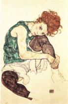 Egon Schiele: Sedící žena (Editha), 1917