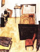Egon Schiele: Malířův pokoj v Neulengbachu, 1911