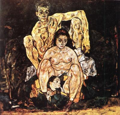 Egon Schiele: Rodina, 1918