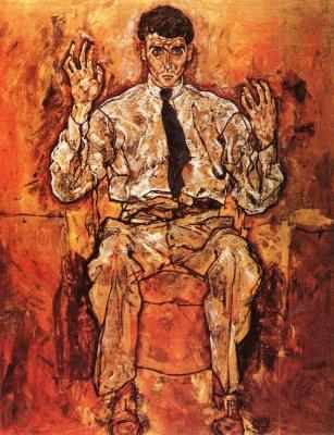 Egon Schiele: Portrét Alberta Parise von Gütersloha, 1918