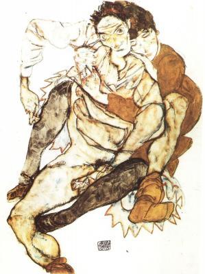 Egon Schiele: Dvojice, 1915