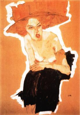 Egon Schiele: Opovržení, 1910