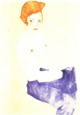Egon Schiele: Sedící dívka, 1911