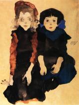 Egon Schiele: Dvě malá děvčátka, 1911