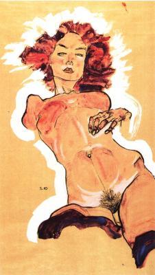 Egon Schiele: Ženský akt, 1910