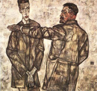 Egon Schiele: Heinrich a Otto Beneschovi, 1913