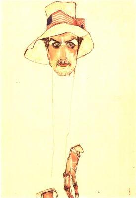 Egon Schiele: Muž s klopákem (Erwin Dominik Osen), 1910