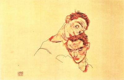Egon Schiele: Dvojitý autoportrét, 1915