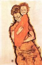 Egon Schiele: Matka a dítě, 1914