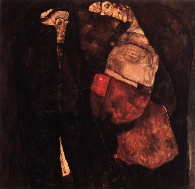 Egon Schiele: Těhotná a smrt, 1911