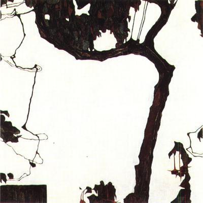 Egon Schiele: Podzimní strom s fuchsiemi, 1909