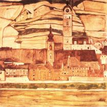 Egon Schiele: Stein na Dunajem, 1913