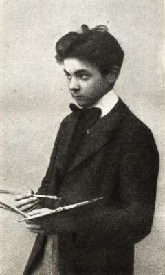 Egon Schiele studentem akademie, 1906