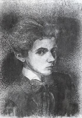Egon Schiele - autoportrét, 1906