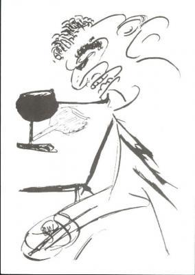 Franz Kafka - vlastní kresba
