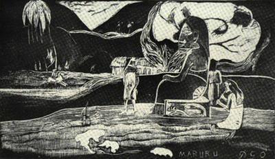 Dřevoryt z Gauguinovy pozůstalosti