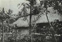 Dům, který Gauguin postavil na úvěr v Punaauia roku 1897