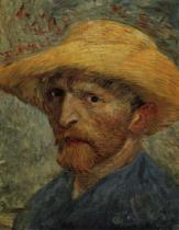 Vlastní portrét se slaměným kloboukem