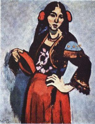 Španělka s tamburínou