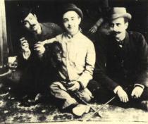 Henri de Toulouse-Lautrec s bratrancem Louisem Pascalem