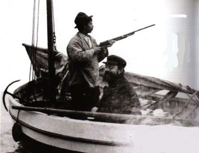 Henri de Toulouse-Lautrec a Maurice Joyant ve člunu