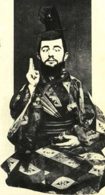 Henri de Toulouse-Lautrec oblečený jako samuraj