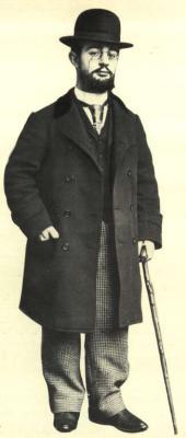Henri de Toulouse-Lautrec ve studiu na Place Vintimille