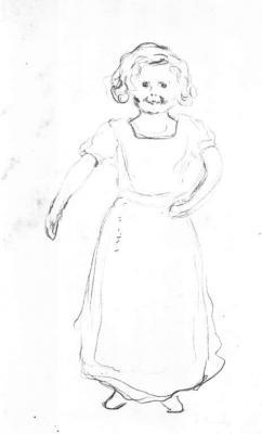 Děvčátko norské služebné