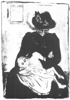 Dědictví (Matka s dítětem nakaženým syfilisem)