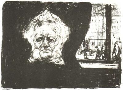 Ibsen v kavárně hotelu Grand v Kristiánii