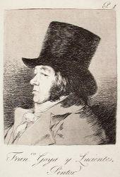 Francisco de Goya y Lucientes, Malíř. (Caprichos, č. 1)