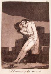 Láska a smrt (Caprichos, č. 10: El amor y la muerte)