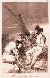 Chlapci se připravují (Caprichos, č. 11: Muchachos al avío)