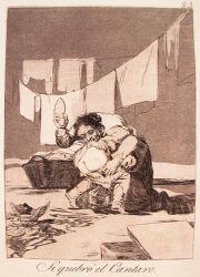 Ano rozbil hrnec (Caprichos, č. 25: Si quebró el cantaro)