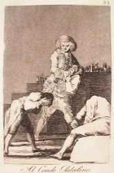 Pro hraběte Palatina (Caprichos, č. 33: Al Conde Palatino)