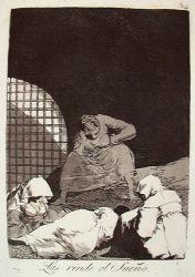 Spánek je přemohl (Caprichos, č. 34: Las rinde el sueño)