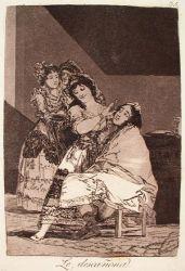 Škube jej (Caprichos, č. 35: La descañona)