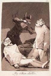 Činčily (Caprichos, č. 50: Los chinchillas)