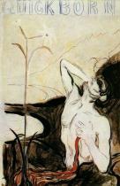 Květina bolesti. Kolorovaná kresba. 1898. 50×33. Munch-Museet, Oslo.
