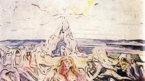 Lidská hora. Olej na plátně. 1909/10. 70×125. Munch-Museet, Oslo.