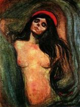 Madona (Madonna). Olej na plátně. 1894/95. 136×110. Munch-Museet, Oslo.