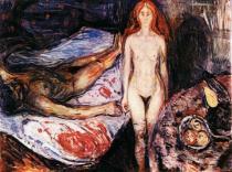 Maratova smrt. Olej na plátně. 1905/08. 150×199,5. Munch-Museet, Oslo.