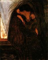 Polibek. Olej na plátně. 1897. 99,5×81. Munch-Museet, Oslo.