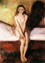 Puberta. Olej na plátně. 1894/95. 151,5×110. Nasjonalgalleriet, Oslo.