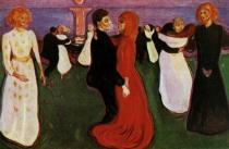 Tanec života. Olej na plátně. 1899/1900. 125,5×190,5. Nasjonalgalleriet, Oslo.