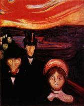 Úzkost. Olej na plátně. 1894. 94×73. Munch-Museet, Oslo.