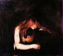 Vampýr. Olej na plátně. 1894. 100×110. Soukromá sbírka.