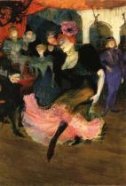 "Marcelle Lender tančící bolero v ""Chilpéricu"" (detail). Olej na plátně. 1896. 145 × 150. National Gallery of Art, Washington, DC."