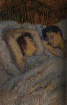 V posteli. Olej na lepence. 1892. 53×34. Soukromá sbírka.